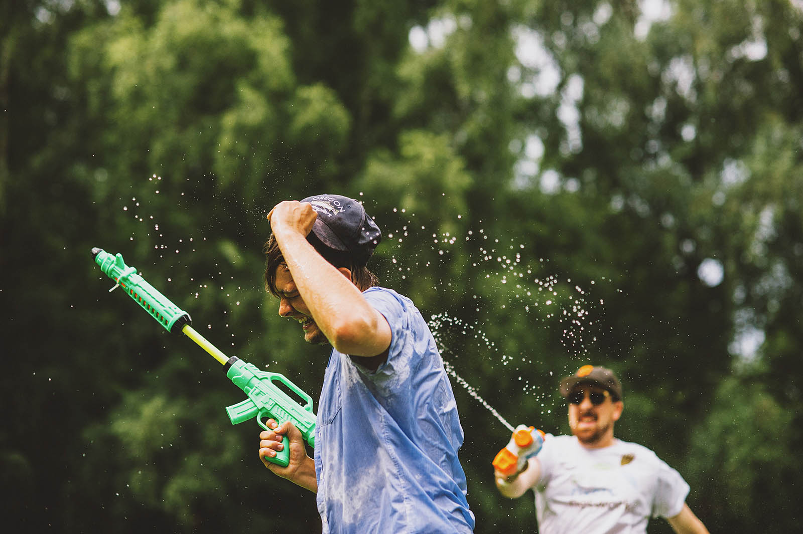 Portland Water Gun Fight in Laurelhurst Park