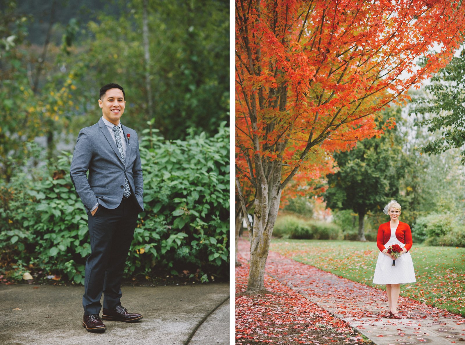 Wedding ortraits in Cathedral Park | Portland Oregon Elopement