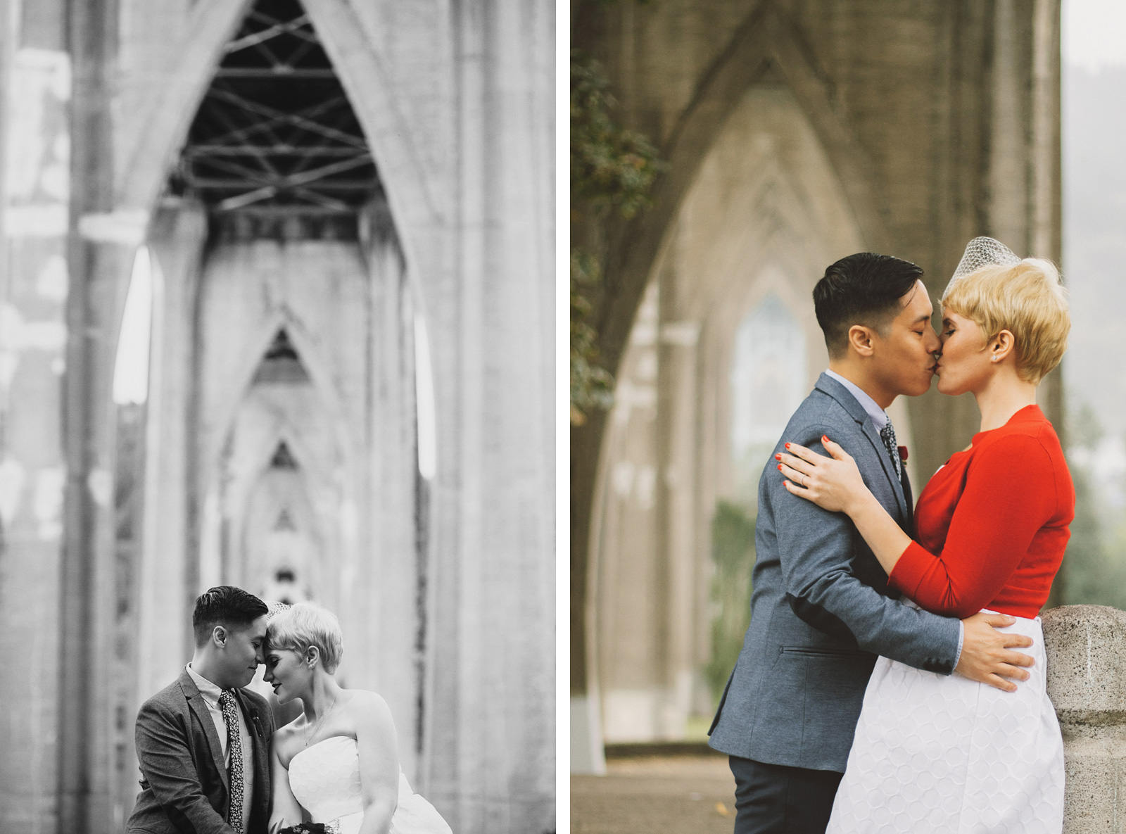 Wedding portraits in Cathedral Park | Portland Oregon Elopement
