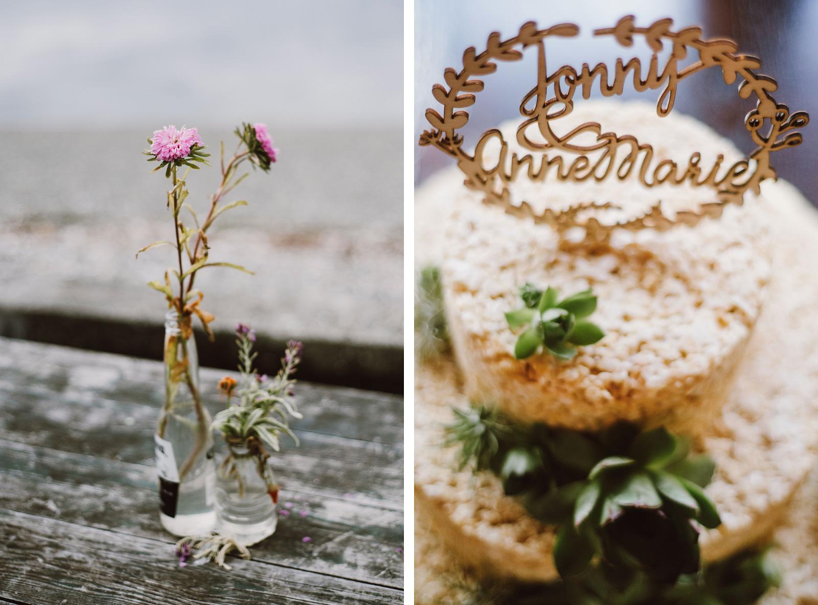 Rice Krispie Wedding Cake | Camano Island Wedding
