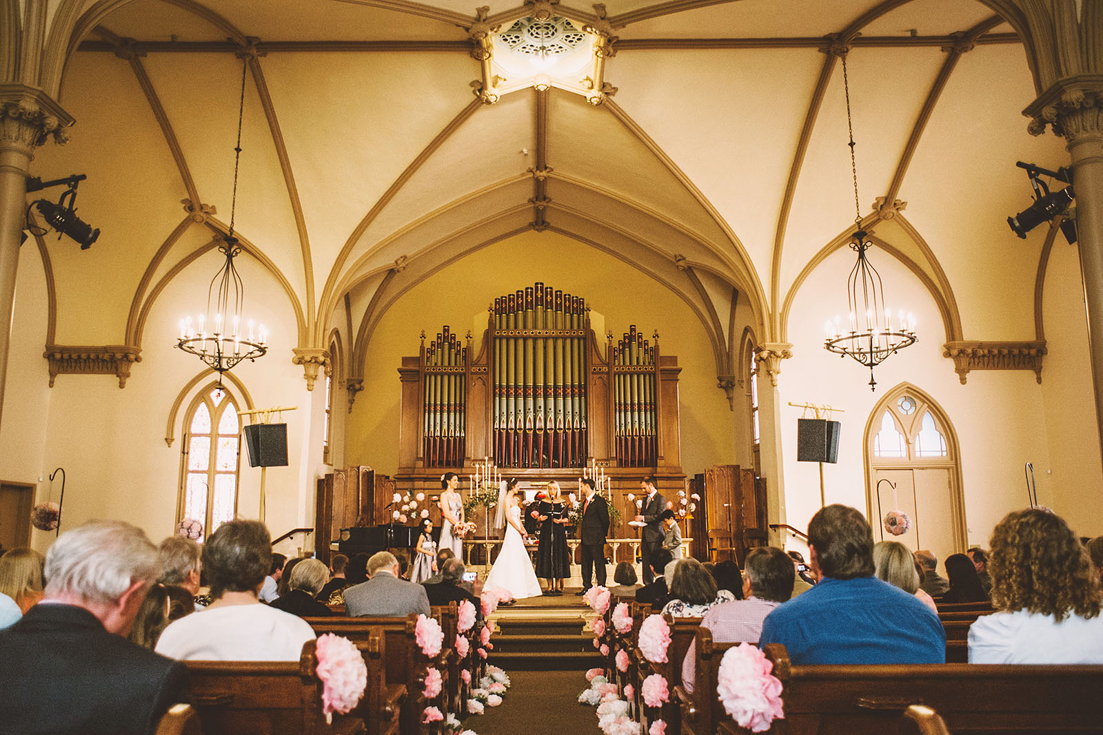 The Ceremony stage | Old Church Wedding Photos