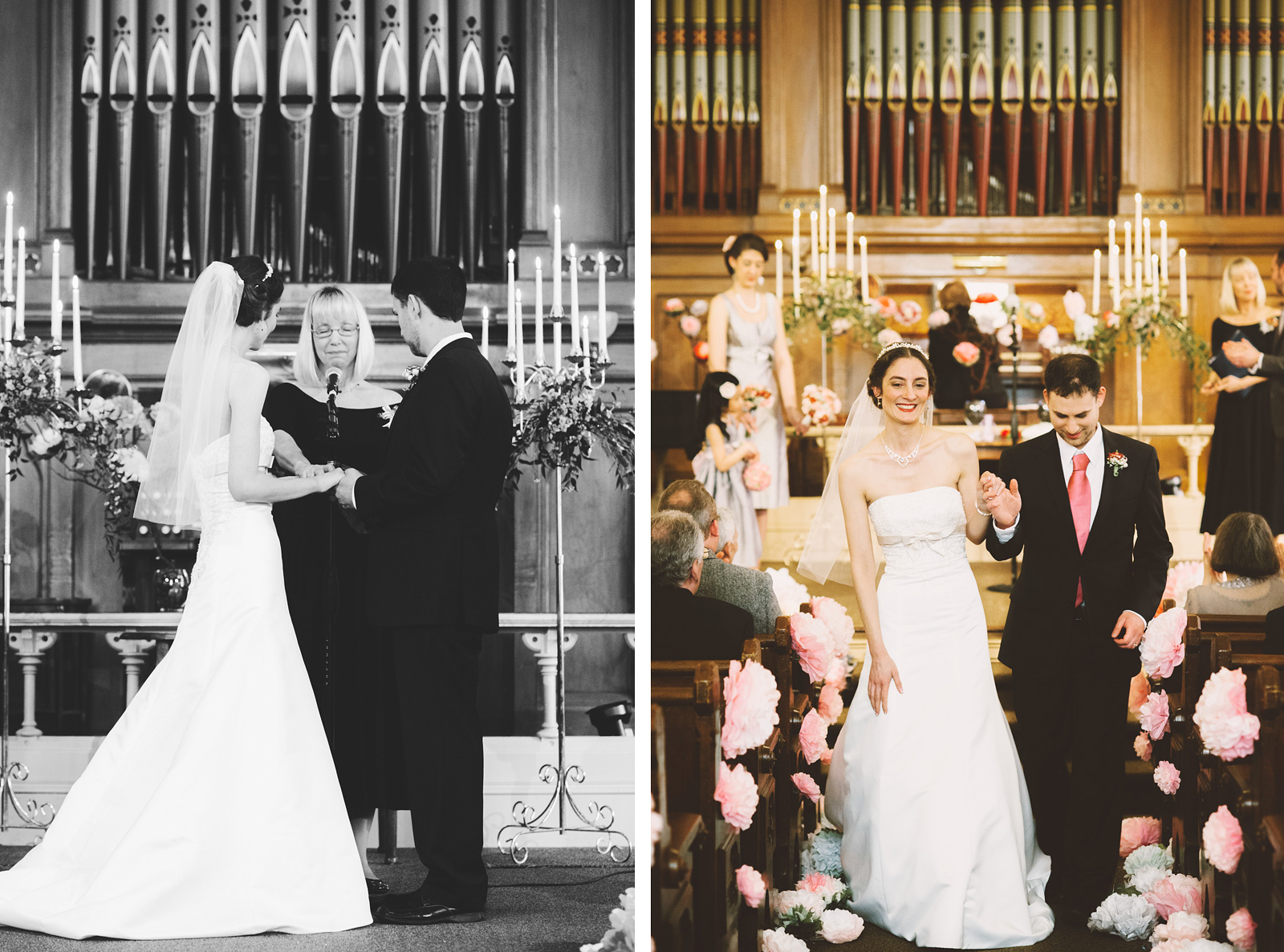 Bride and Groom receive a blessing at the ceremony | Old Church Wedding Photos