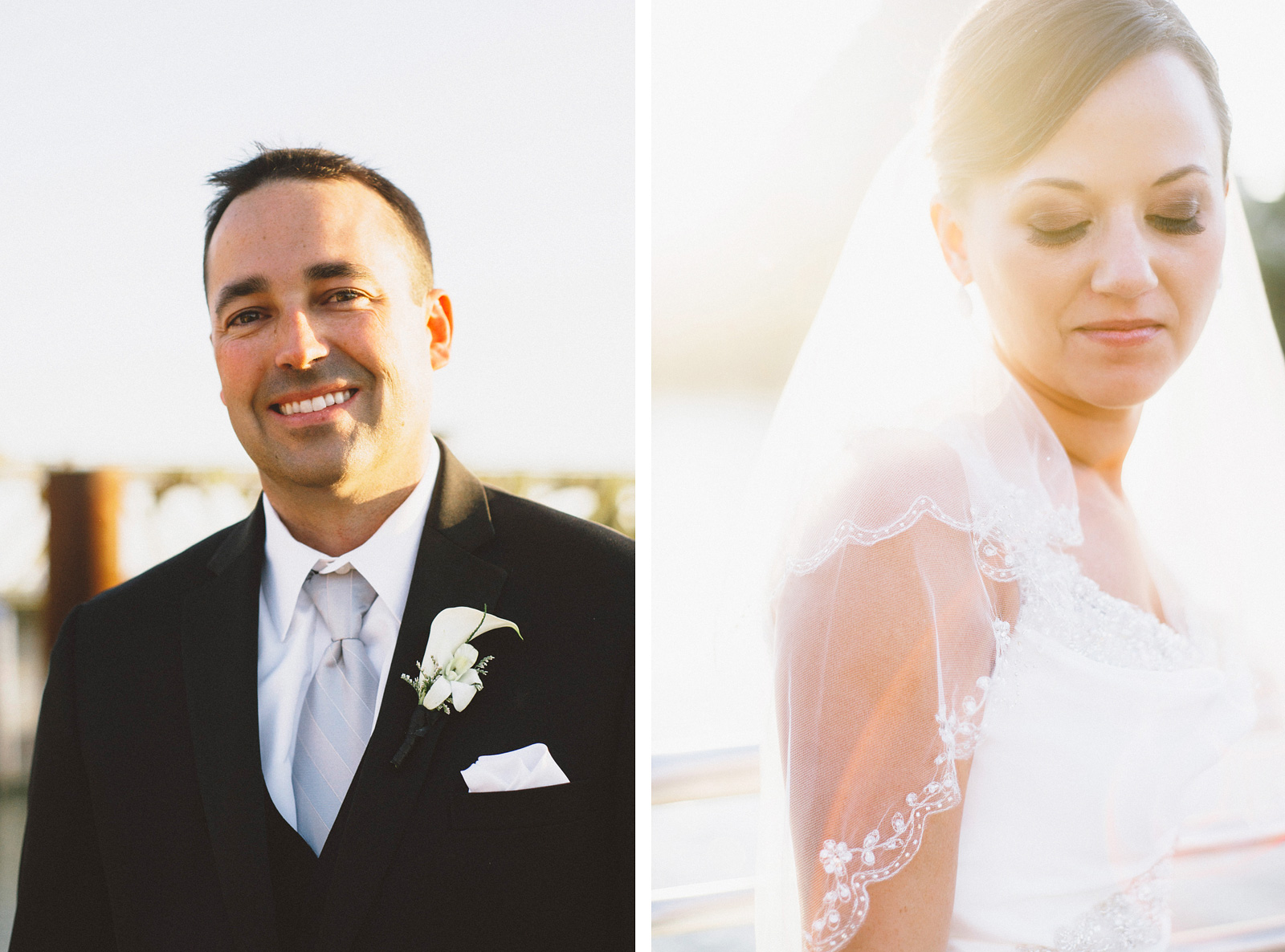 Bride and Groom portraits on the river | Sacramento Firehouse Wedding