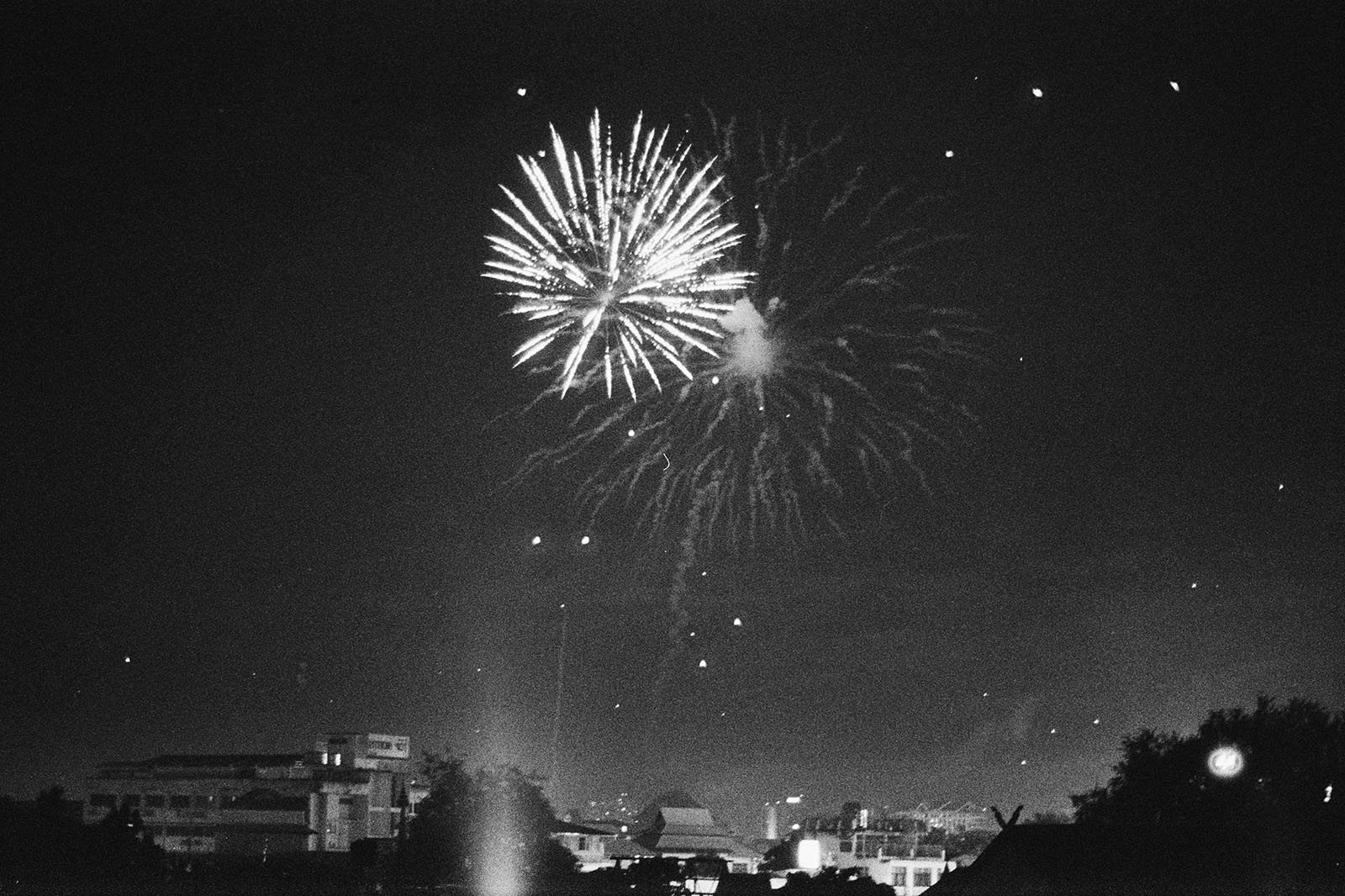 Fireworks during Loi Krathong in Chiang Mai | Thailand Travel Photos