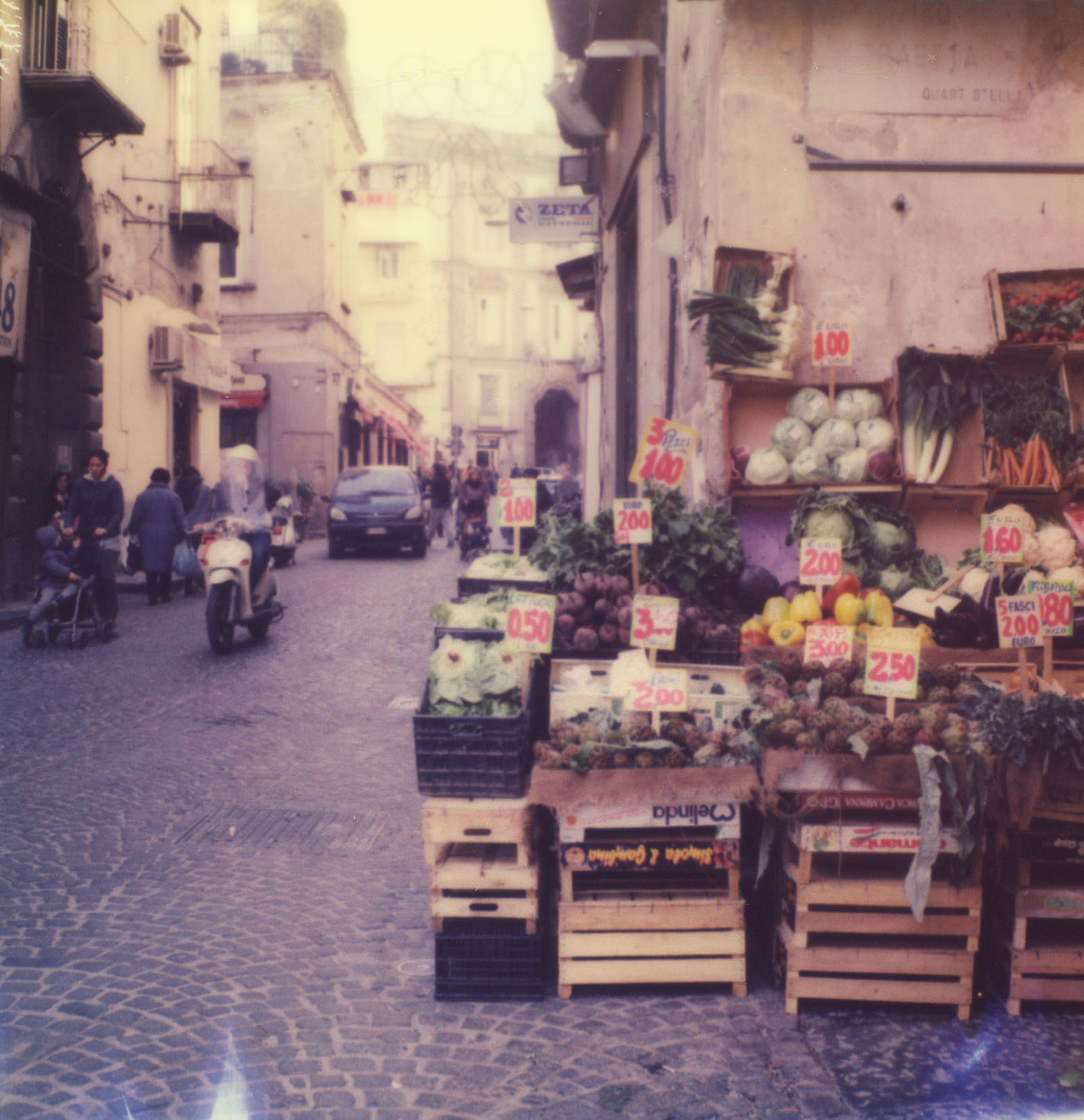 italy vacation polaroids