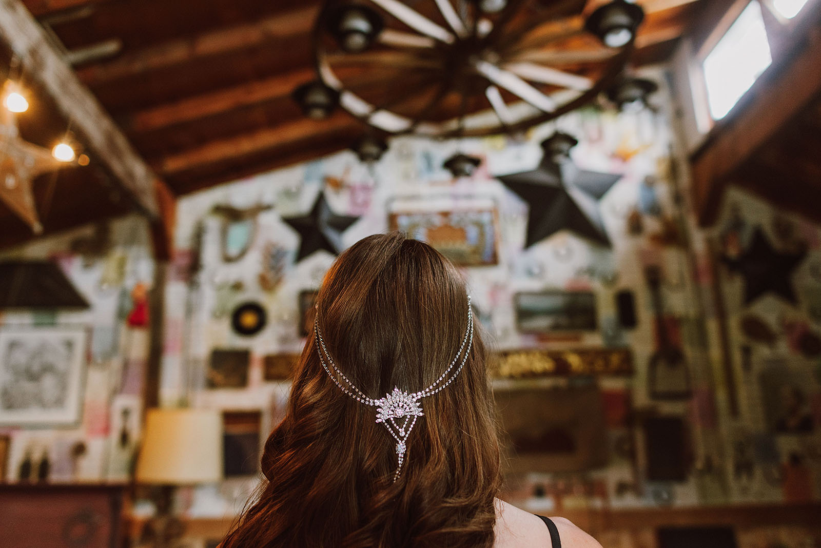 Bride getting ready at Pendarvis Farm | Woodsy Campground Wedding