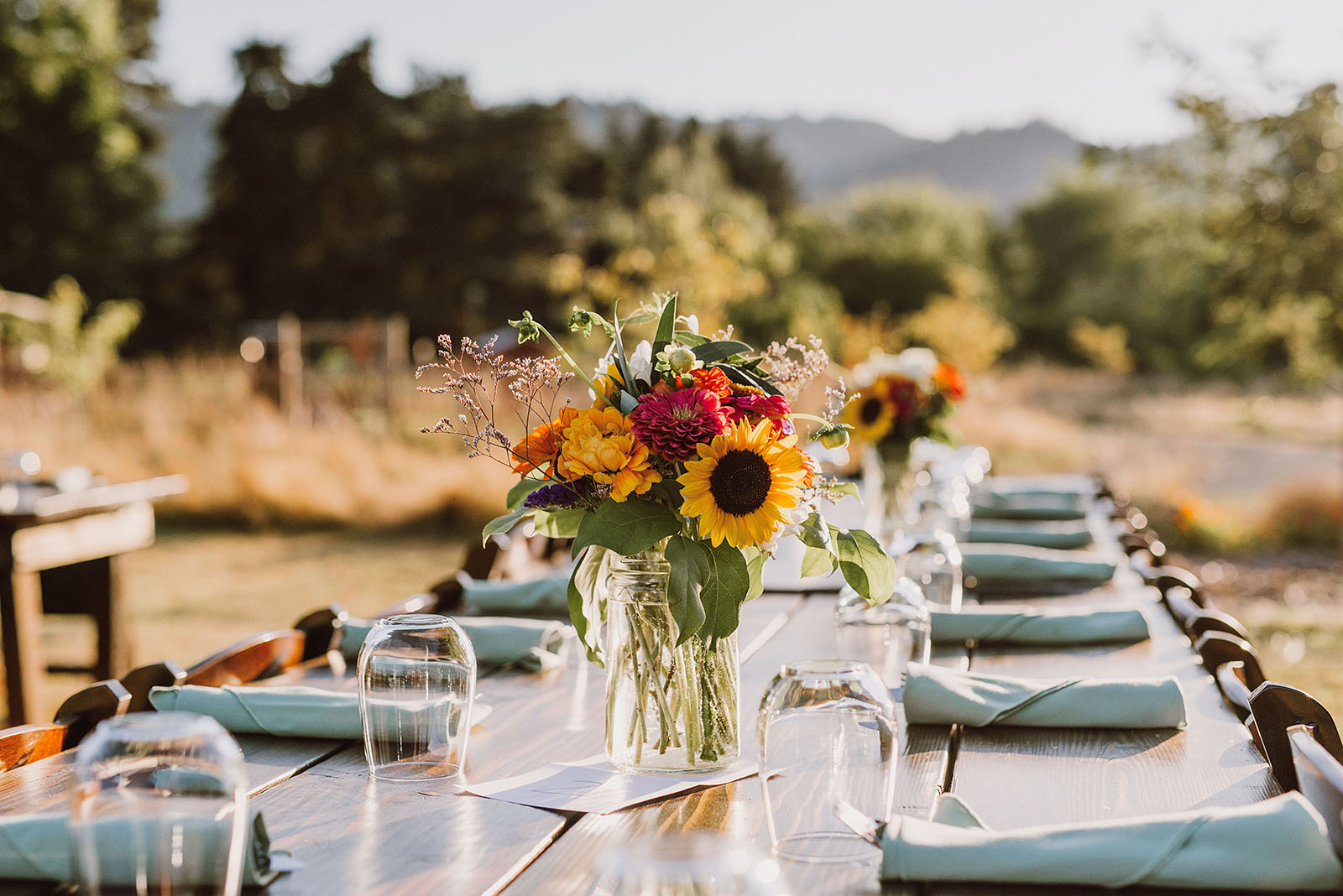 Table settings at the Croft Farm | Sauvie Island Wedding