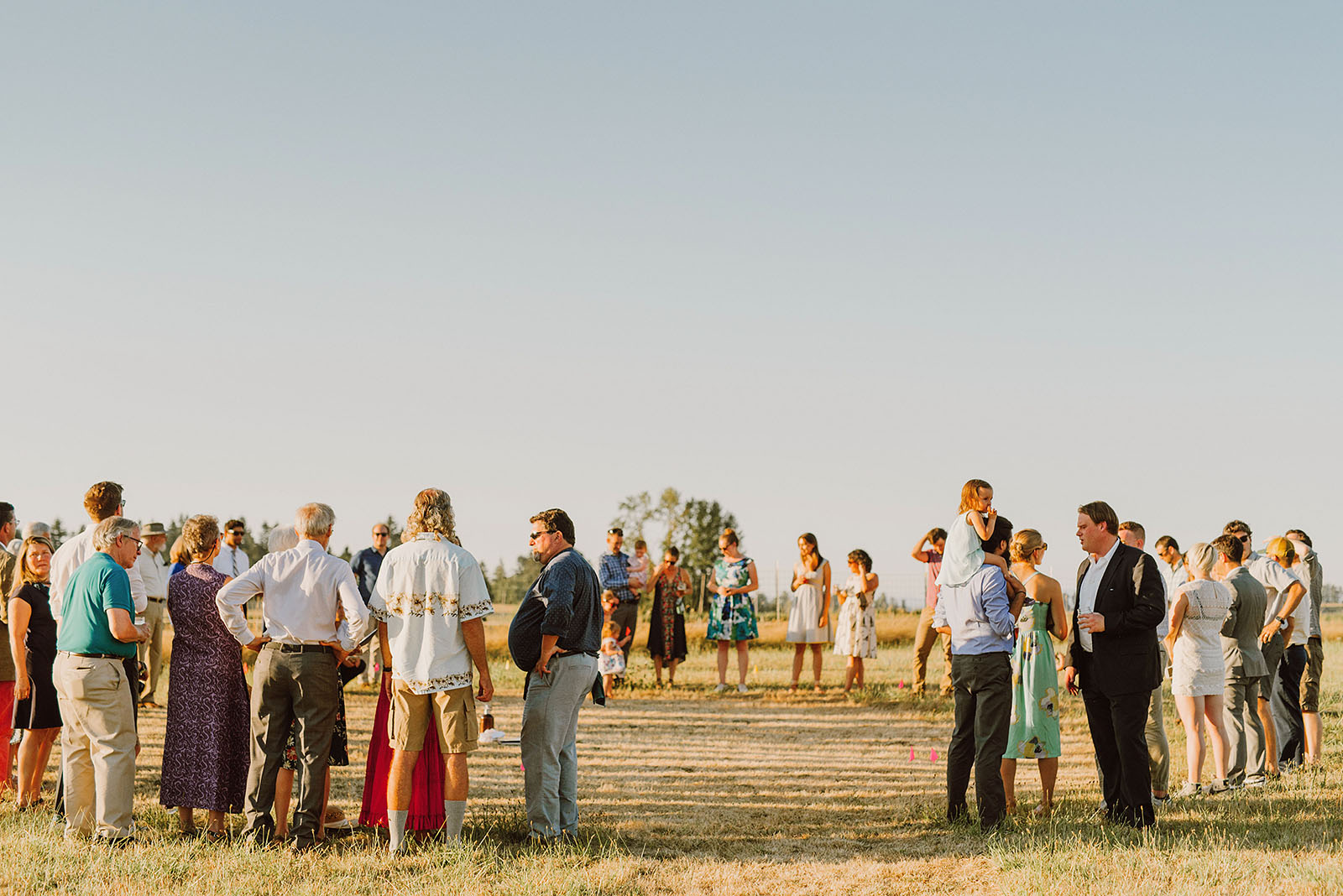 Ceremony circle at the Croft Farm | Sauvie Island Wedding