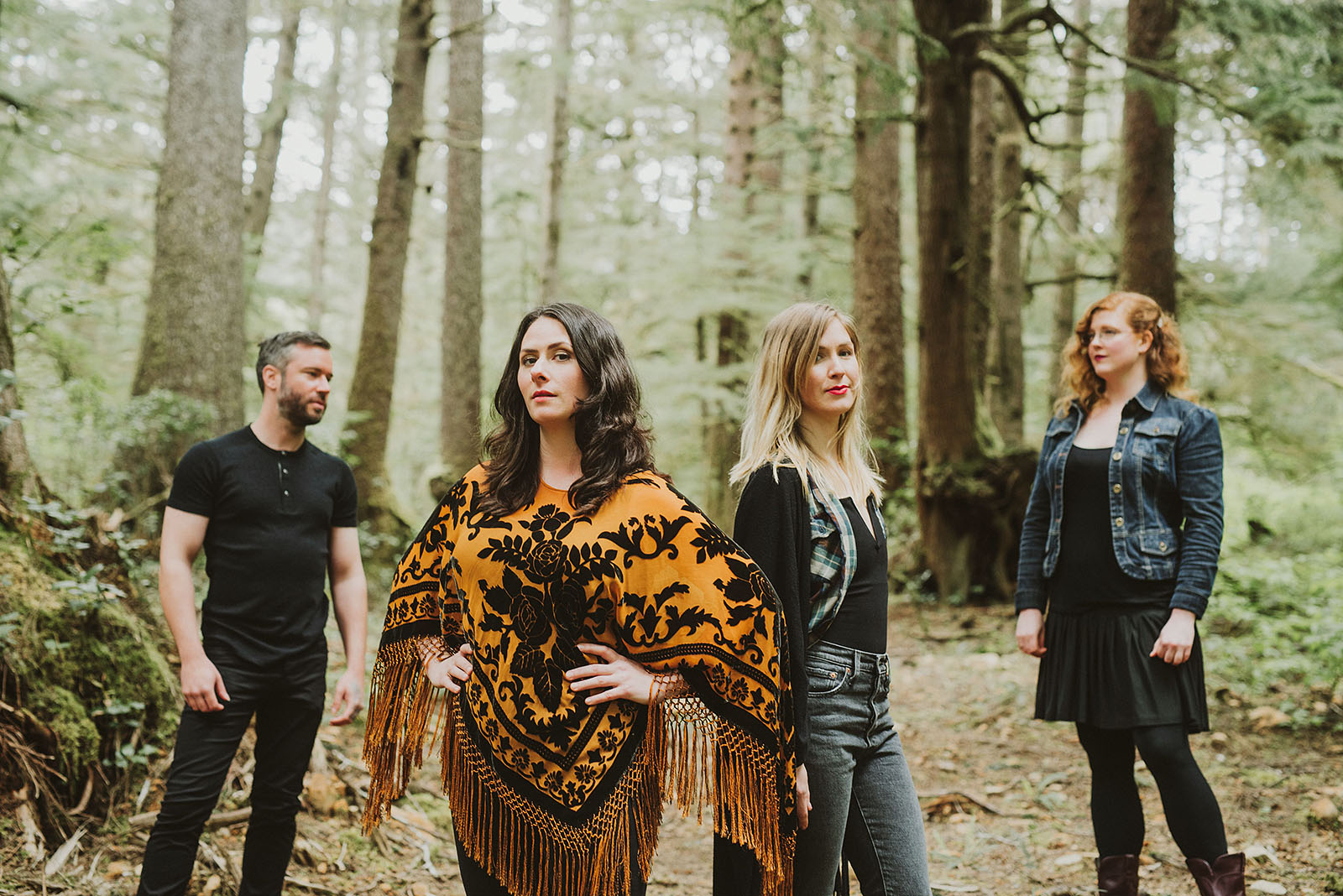 Portrait of folk band Lenore in the Oswald West State Park | Portland Band Photographer