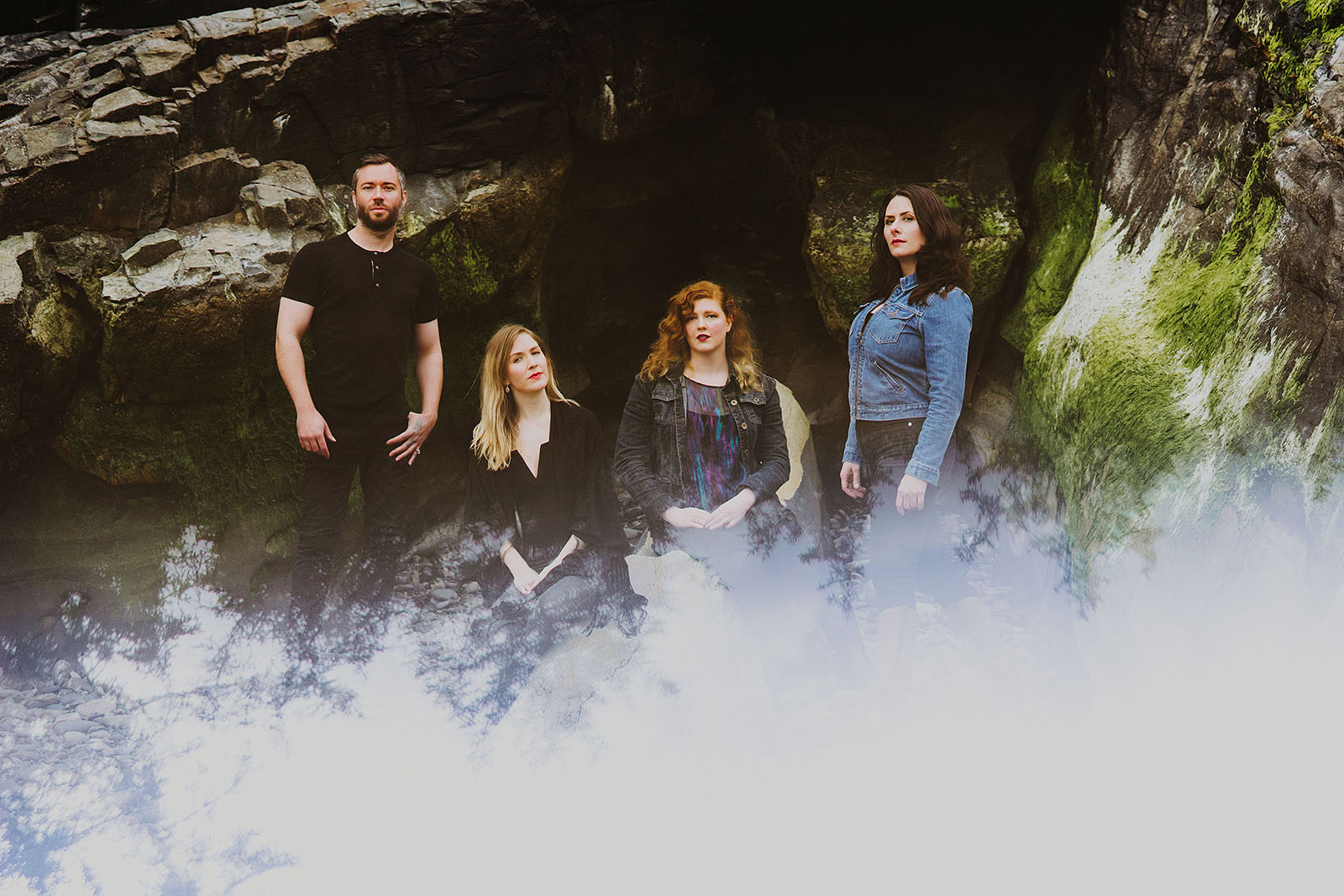 Portrait of folk band Lenore on the Oregon Coast | Portland Band Photographer