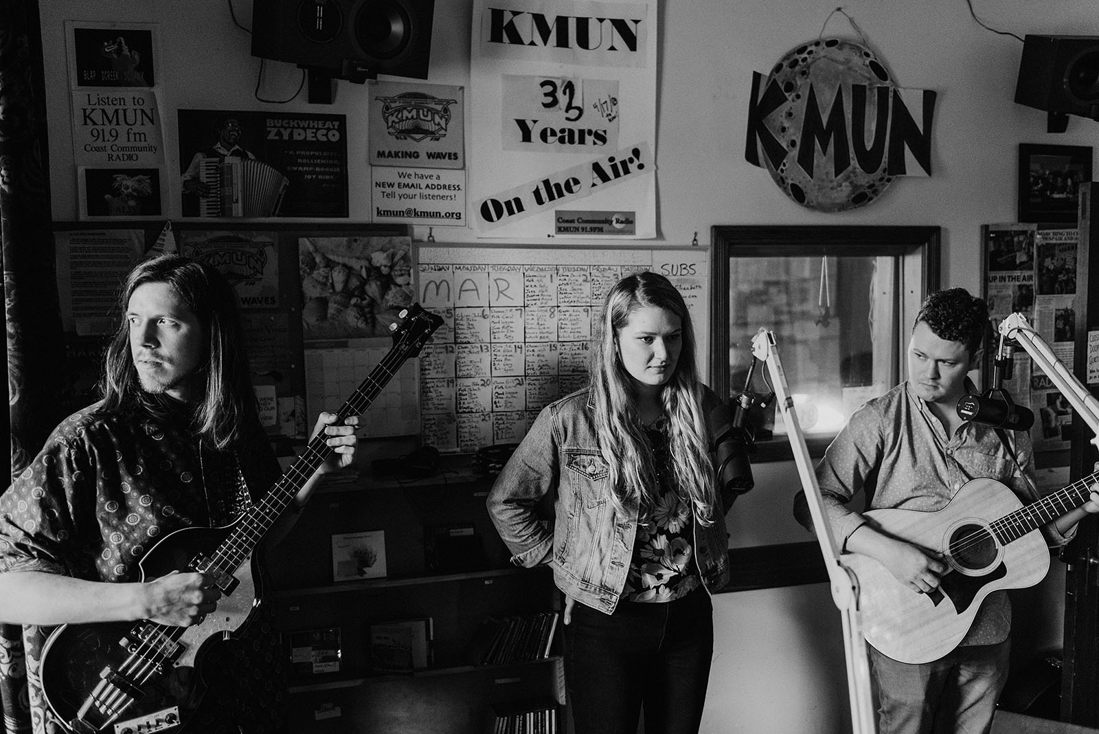 Those Willows performing on KMUN Coast Community Radio - Portland Band Photographer