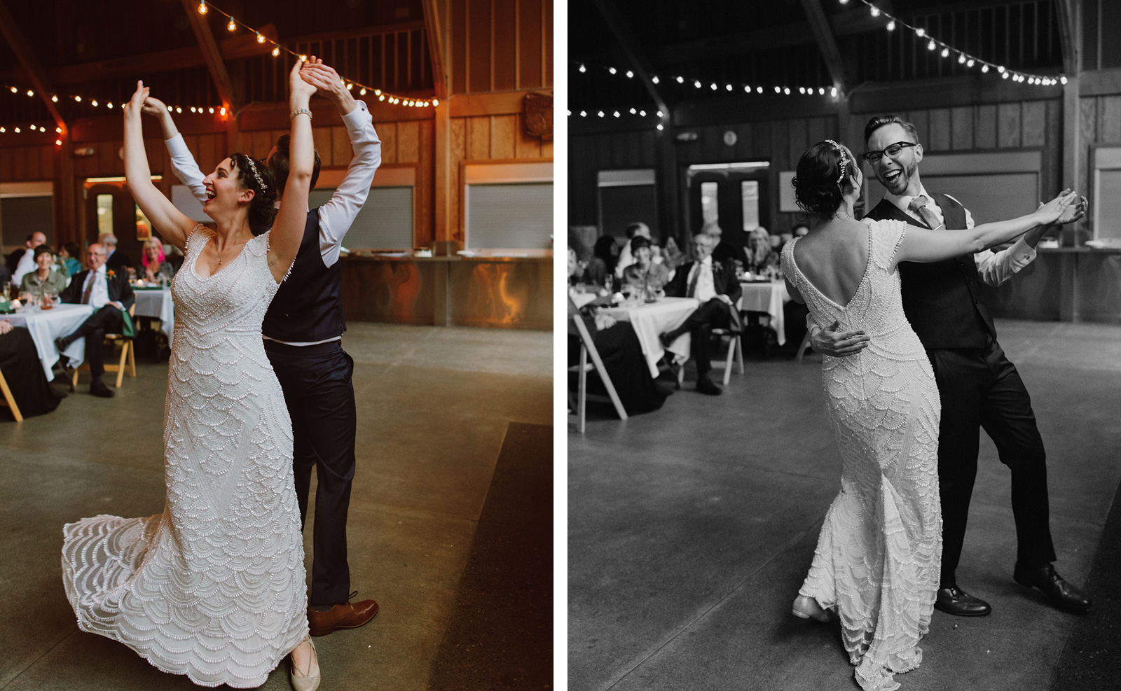 First dances at Camp Angelos wedding reception