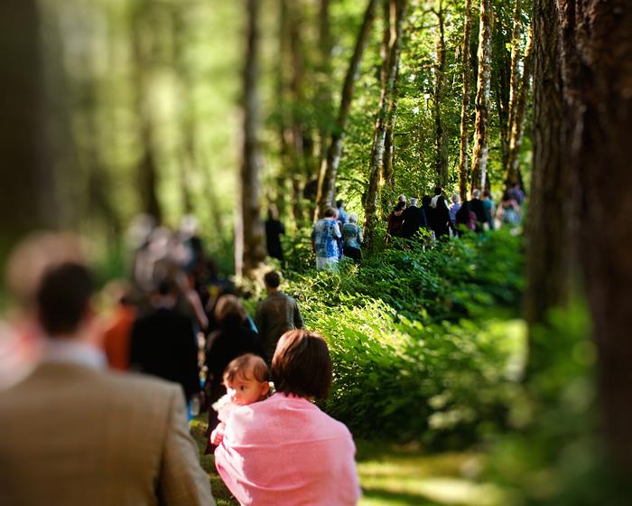 Procession of Guests - Bridal Veil Lakes Wedding - Portland Oregon