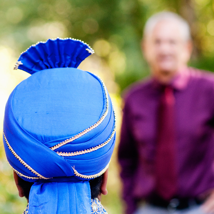 Hindu wedding Groom's headpiece - Bridal Veil Lakes wedding - Portland Oregon