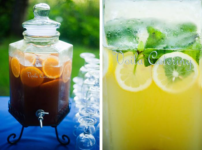Tea and Lemonade at Reception - Bridal Veil Lakes wedding - Portland Oregon