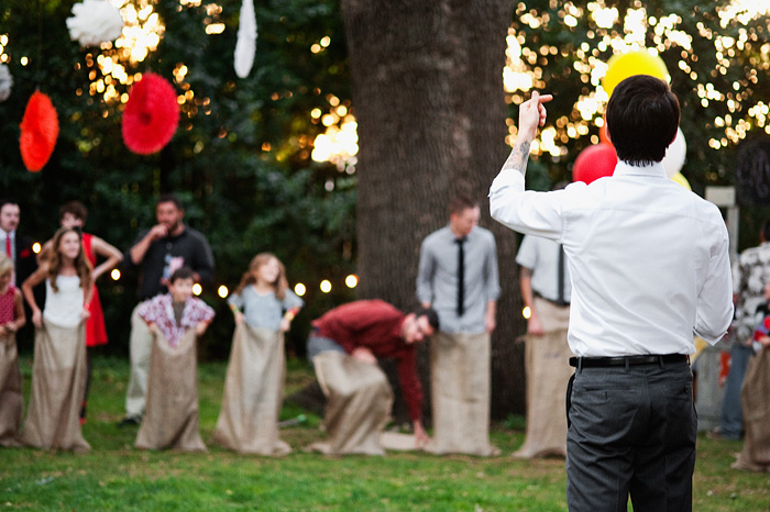 Carnival Theme Wedding: Sack Race