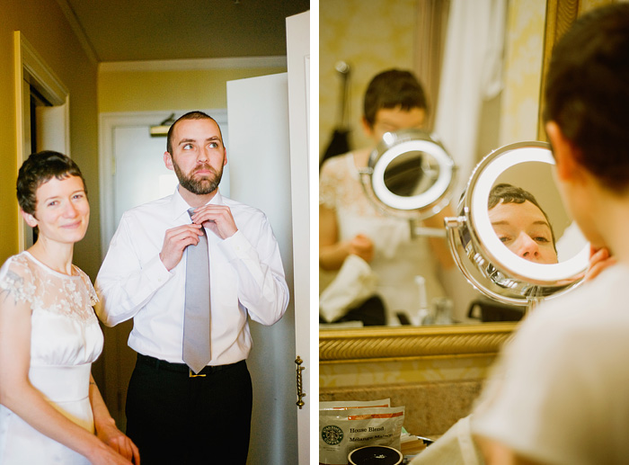 Multnomah County Wedding Photographer - Hotel Monaco Portland: Bride and Groom