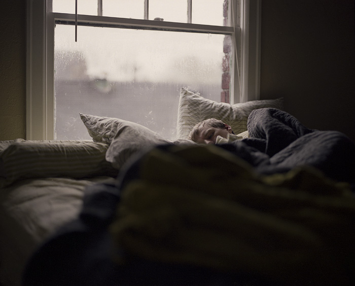 Portland Oregon Lifestyle Photographer - Man Sleeping in Bed
