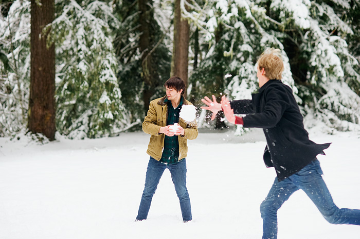 Snowball Fight - Government Camp, Oregon