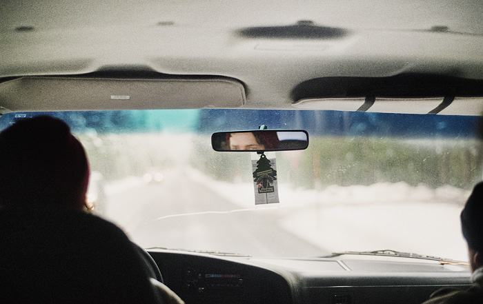 Face in Rear View Mirror