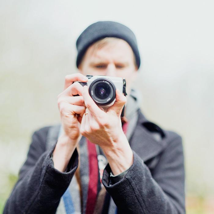 Chris shooting video Olympus Pen - Bokeh Panorama