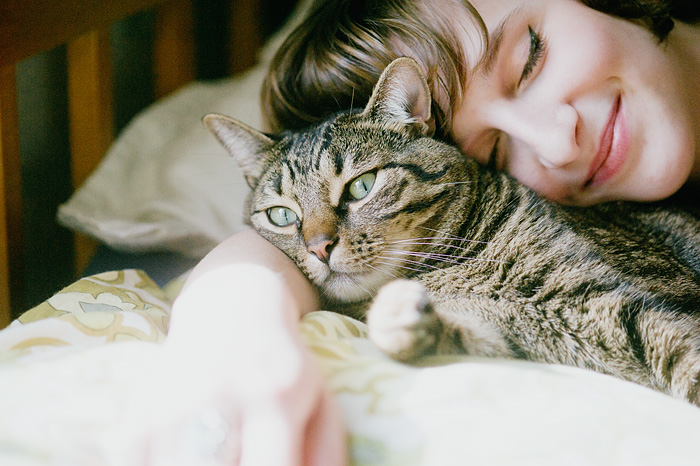 A Girl and Her Cat - Portland, OR
