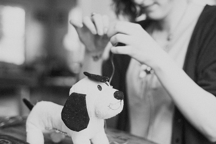 Jenica Sewing Diego's Cat Toy - Portland Lifestyle Photographer