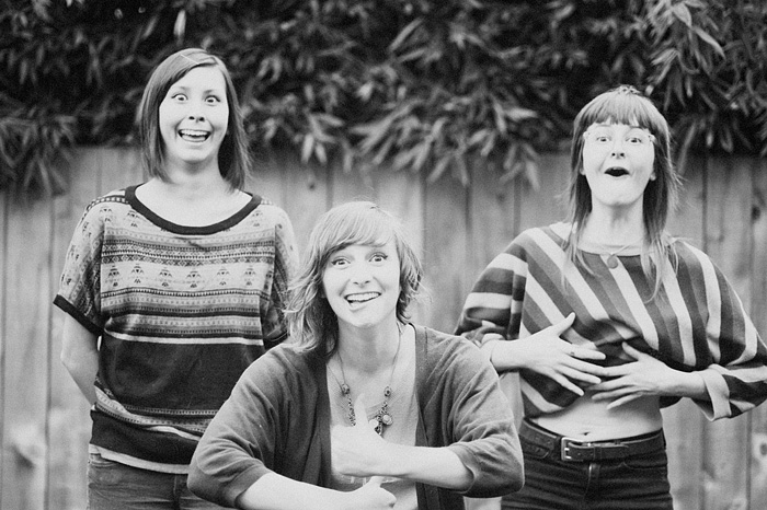 Girls Making Goofy Faces - Portland Portrait Photographer