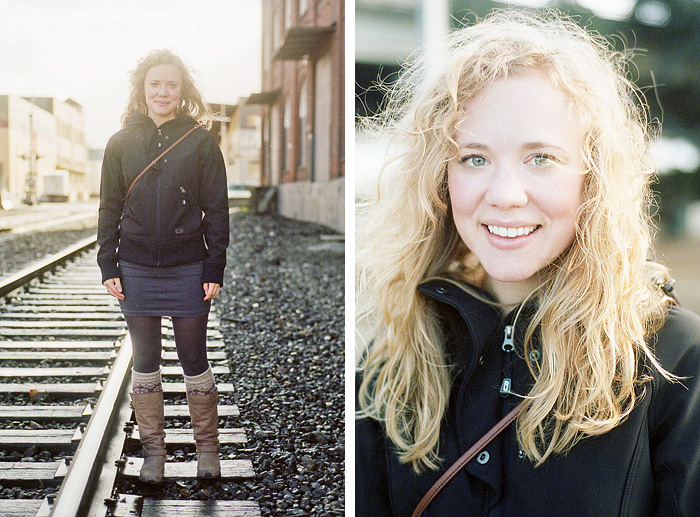 Molly on the Train Tracks - Portland Portrait Photographer - 35mm film
