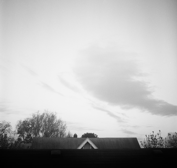 Portland, Oregon - Irvington - Rooftops and Clouds