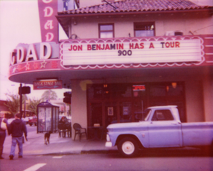Marquee at the Bagdad Theater on Hawthorne - PDX - Polaroid Spectra - Expired Polaroid Film