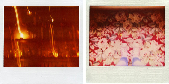 Drunk Polaroid at Sweet Hereafter and Self-Portrait of Feet - Polaroid Spectra - Expired Polaroid Film