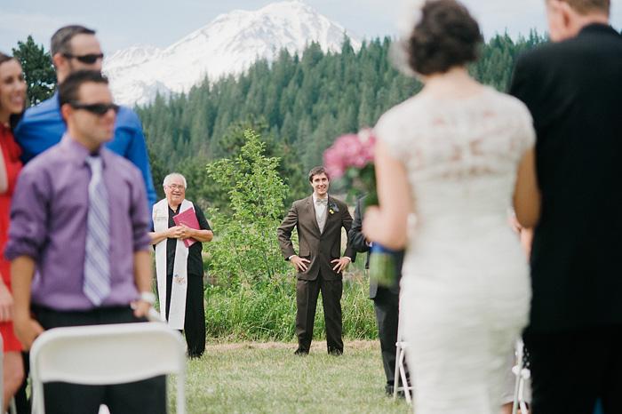 Mount Shasta Wedding Photographer - Groom's First Look