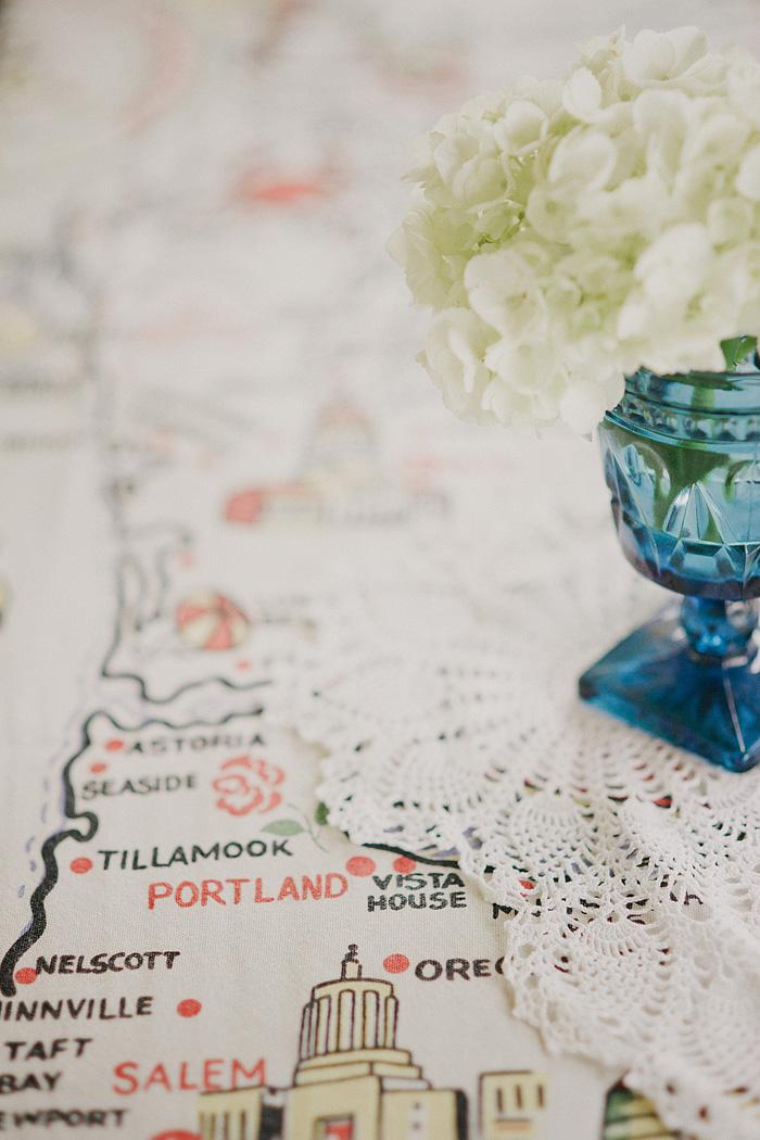 Oaks Amusement Park Wedding - Portland Tablecloth