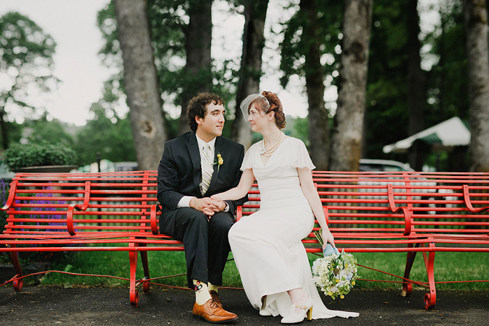 Sellwood Wedding Photographer - Oaks Amusement Park Reception - Bokeh Panorama