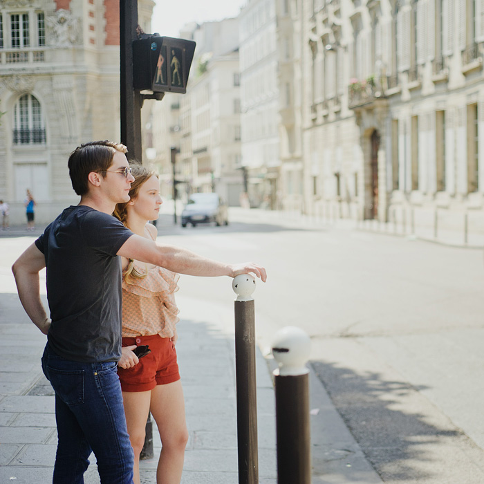 Paris, France - Couple Crossing the Street