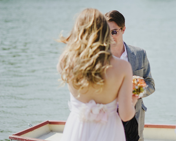 Portland Portrait Photographer - Bride and Groom on Boat