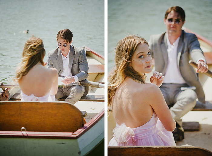 Gardens of Versailles wedding - Bride and Groom on Boat