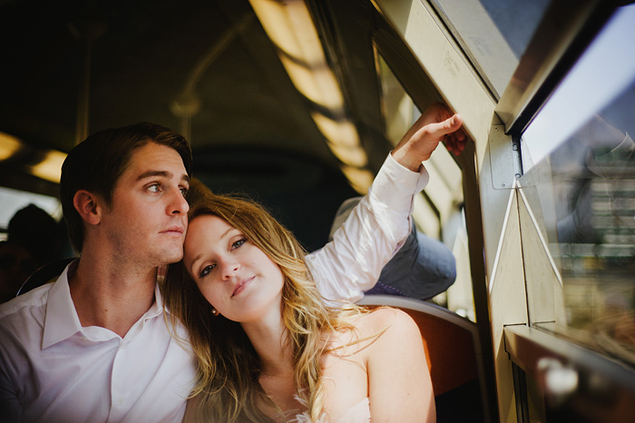 Destination Paris Elopement - Newlyweds on the Metro