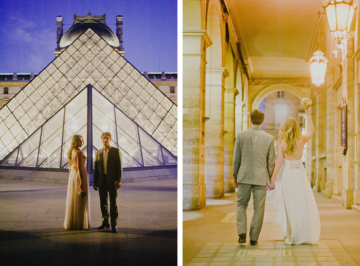 Newlyweds at the Louvre - Paris, France