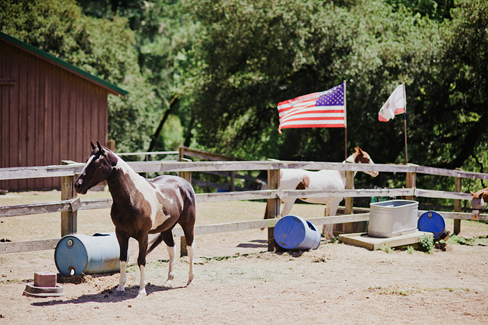 Horse Corral at Camp Royaneh - Cazadero, CA