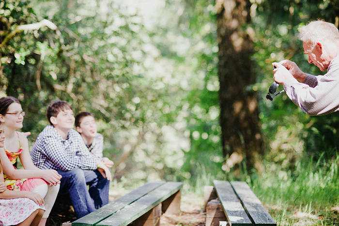 Children being photographed at wedding ceremony - Cazadero, CA