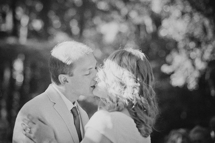 Bride and Groom kiss at Camp Royaneh ceremony - Bay Area Wedding Photographer