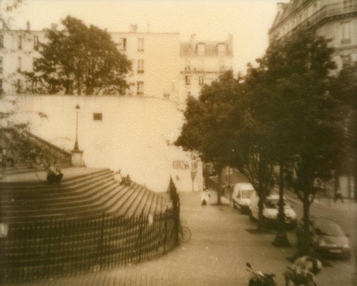 Polaroid Spectra Film - Impossible Project PZ 600 Silver Shade - Menilmontant, Paris, France