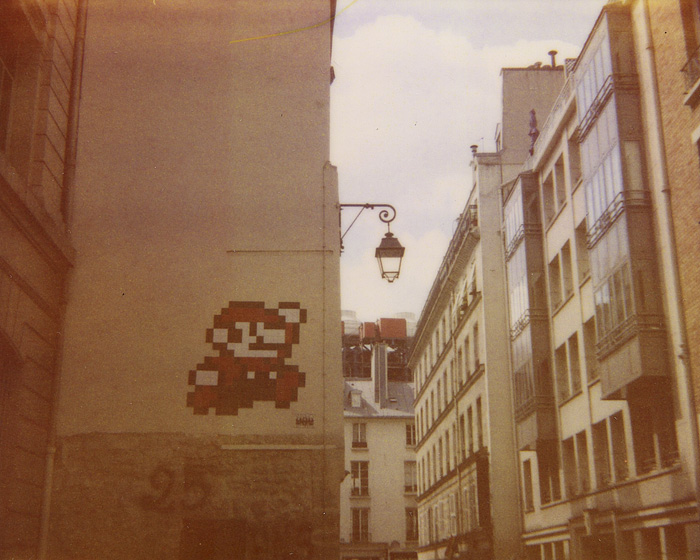 Polaroid Spectra Film - Video Game Mosaic - Paris, France