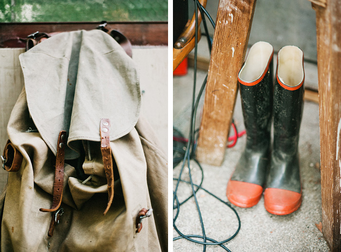 The Ranger Station - Rustic Details - Rucksack and Galoshes