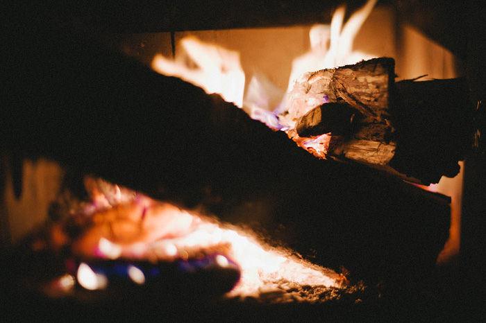 Portland Oregon Photographer - Wood Fireplace at the Ranger Station