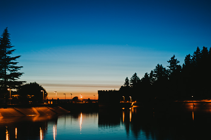 Portland Oregon Photographer - Mt. Tabor Reservoir at Sunset