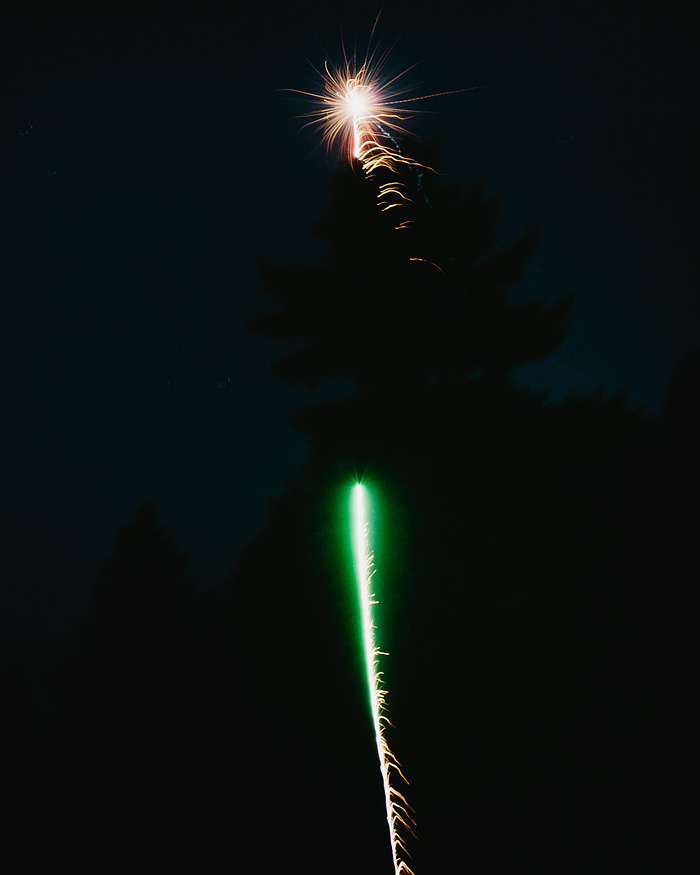 Portland Lifestyle Photographer - Fireworks on Mt. Tabor