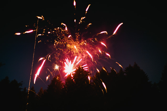 Portland Oregon Photographer - Illegal Fireworks on Mt. Tabor